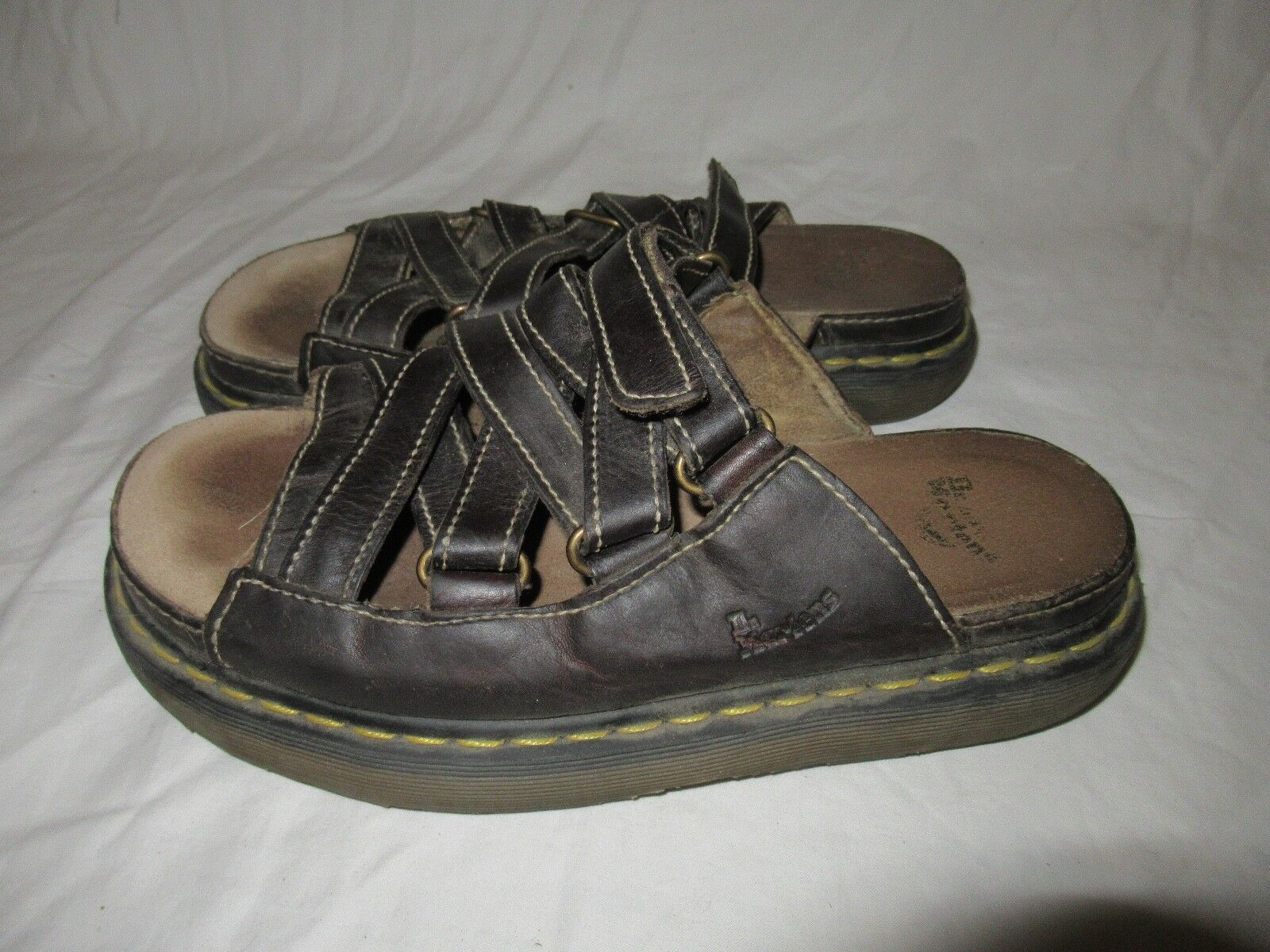 Doc Martens Brown Leather Slide Sandals Size  US 8 Men  US 9 Lady