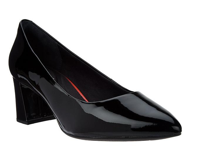 Rockport Rockport Rockport Total Motion Patent Leather Block Heel Pumps Salima Black 8.5 New e36915