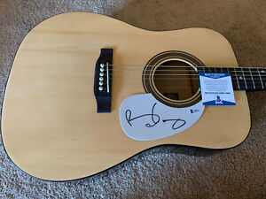 Brian May Queen Signed Autographed Acoustic Guitar Beckett Certified