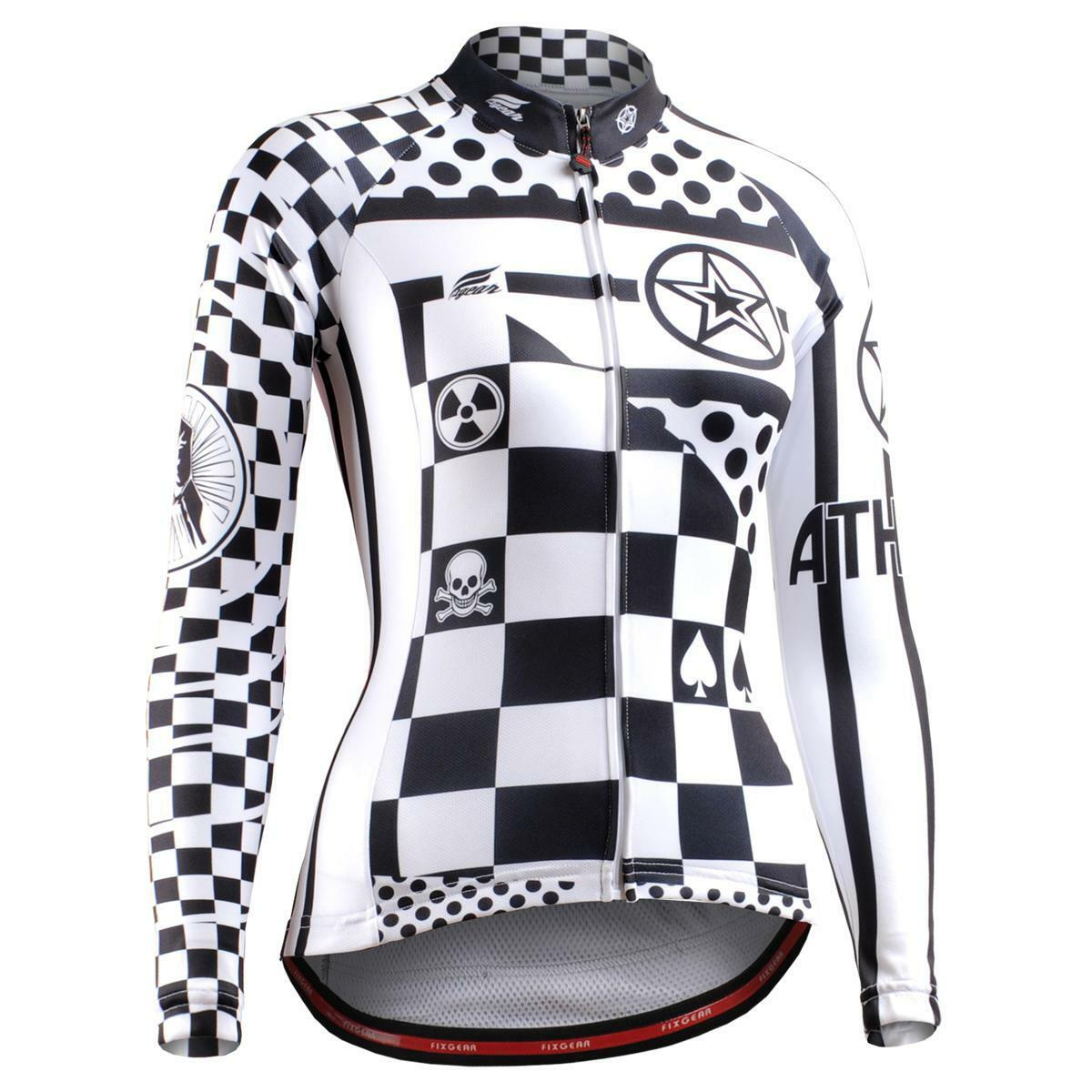 FIXGEAR CS-W601 Women's Long Sleeve Cycling Jersey Bicycle Apparel Roadbike MTB