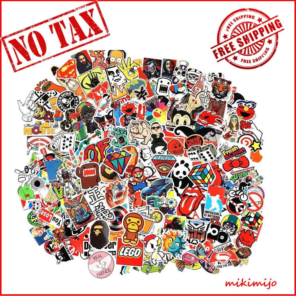 Details about cool random bulk pack of 100 stickers skateboard snowboard vinyl bumper sticker