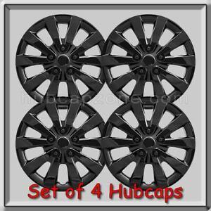 16 Black Nissan Sentra Hubcaps Fits 2014 2015 Hub Caps Sentra Wheel Covers Ebay