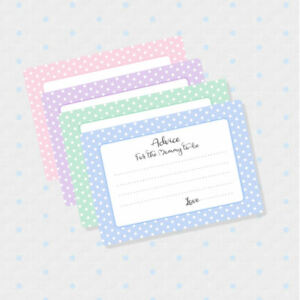 50 Advice Cards For The Mom To Be Baby Shower Games Shower Wish