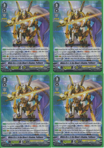 Playset of 4 Cardfight Vanguard White Hare in the Moon/'s Shadow Pellinore RR