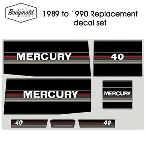 Mercury-Outboard-decals-1990-40hp-Replacement-decals
