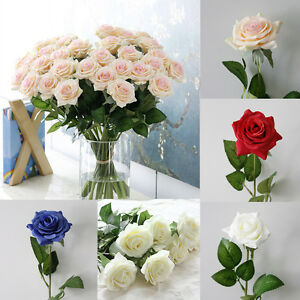 7cm Real Latex Touch Rose Flowers Bouquet For wedding/Home Decor/Valentine