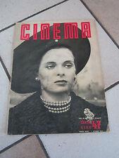 cinema rivista 1950 LUCIA BOSE' CRONACA DI UN AMORE MICHELANGELO ANTONIONI