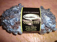Sensations Blue Confetti Yarn...1 3/4 Oz