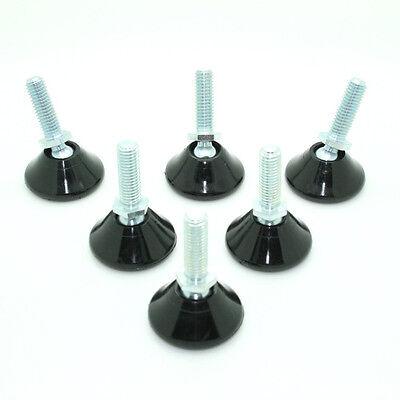 10x M6 x 12.5mm Weight Rated Adjustable Feet, Tilt Gildes, Articulating, WAMF037