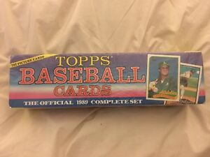 Details About Topps Baseball Cards 1989 Complete Set Factory Sealed