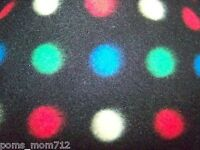 Personalize 29x28 Colored Polka Dot Fleece Dog Bed Crate Mat Car Puppy