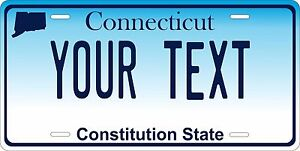 Connecticut 2015 Personalized Custom License Plate Car Motorcycle Bike