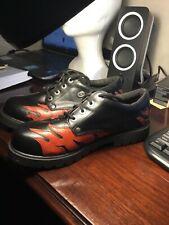 Harley Davidson Black Flame Smolder Leather BOOTS Oxford