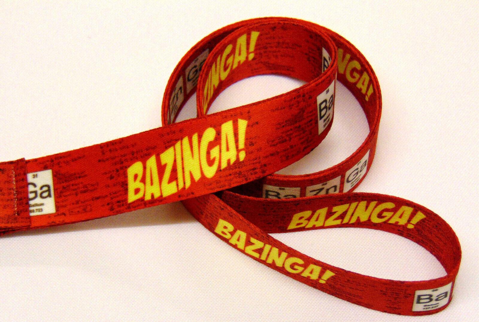 BAZINGA neck strap lanyard for ID, keys etc. Hand made in UK. Free UK postage