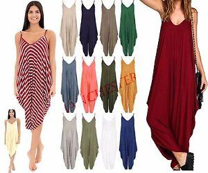 Women Ladies Hareem Romper All in one Jumpsuit Dress Play suit Baggy Plus 8-26