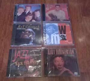 LOTE-6-CD-ELLA-FITZGERALD-ELVIS-RAY-CHARLES-rock-039-n-roll-soul-jazz-blues