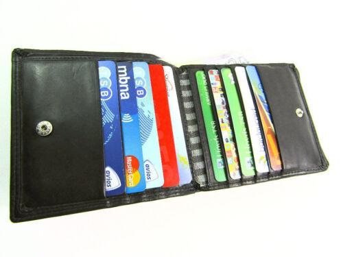 Mens designer premium doux cuir véritable portefeuille carte de crédit porte-monnaie pochette