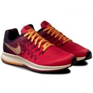 6ff6d79ea6 NIKE ZOOM PEGASUS 33 GS YOUTH KIDS RUNNING SHOES EMBER BLOW/MLTC RED ...