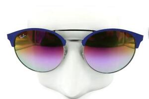 96b072a7840 Image is loading Ray-Ban-Highstreet-Blue-Sunglasses-Vilolet-Gradient-Mirror-