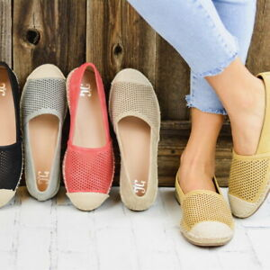 Women-039-s-Mesh-Loafers-Round-Toe-Ankle-Flats-Sneakers-Casual-Slip-On-Flat-Shoes