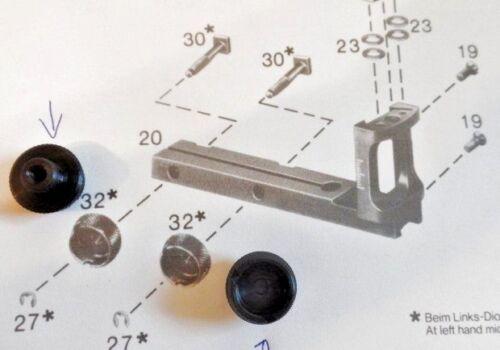 X12 6700-11 madre di bloccaggio per Diopter 6702 Anschütz 6706 scelta nuovo 2 6705