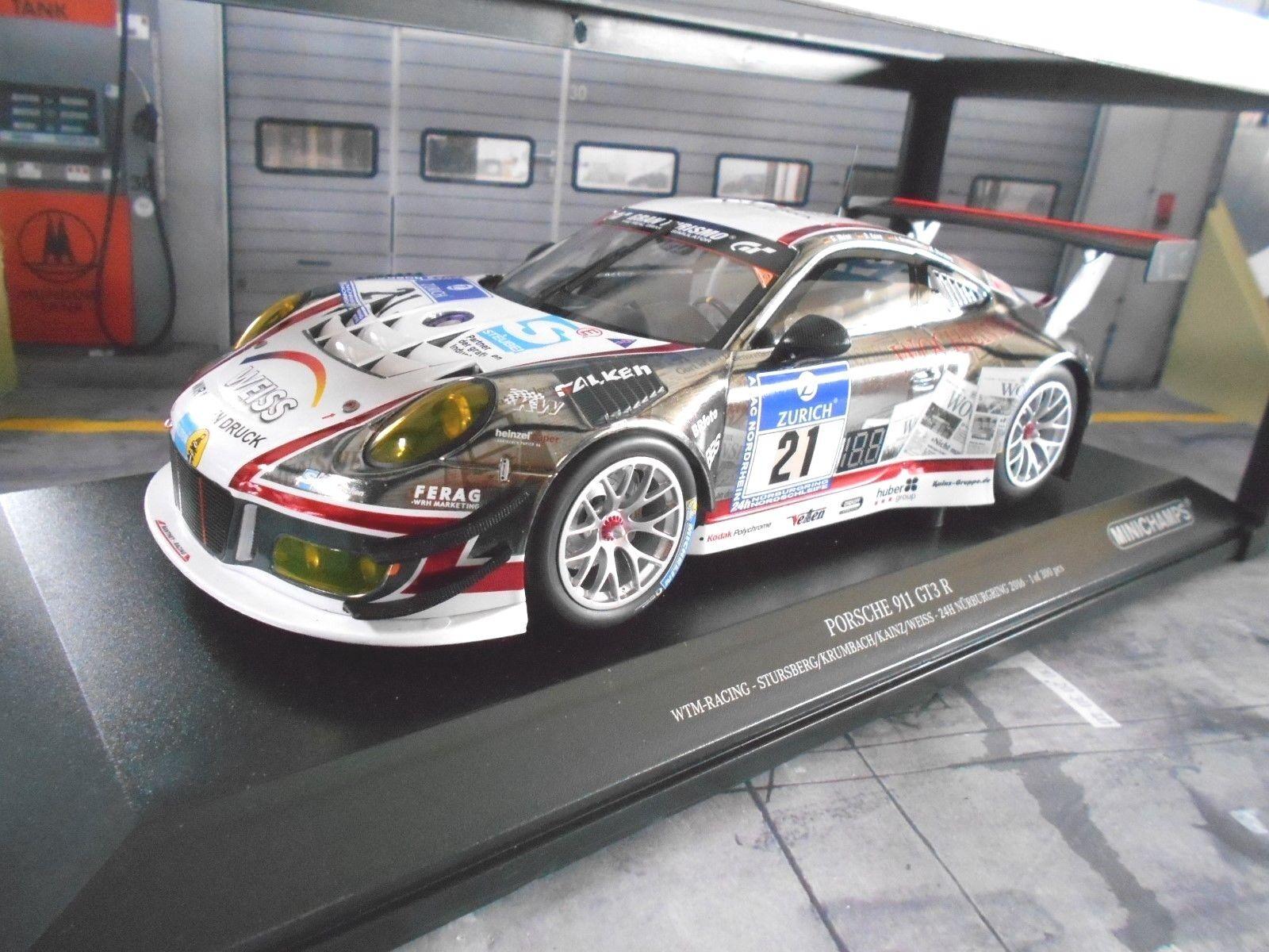 PORSCHE 911 991 R GT3 24h Nürburgring 2016 Manthey Wochenspiegel Minichamps 1 18