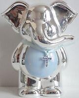 Silver Plated Birth Christening Gift Present Baby Boy Girl Keepsake Money Box
