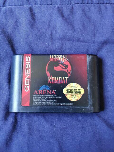 Mortal Kombat (Sega Genesis, 1993) TESTED CART ONLY