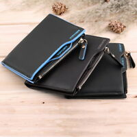 Mens Luxury Quality Leather Wallet Credit Card Holder ZIP Bifold COIN PURSE OV