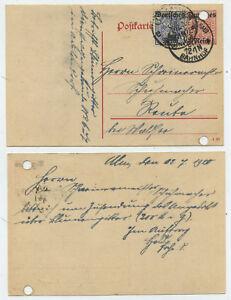 52662-Ganzsache-DP-14-ZuF-Dienst-Postkarte-Ulm-12-7-1920-nach-Reute