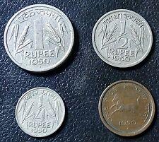 1 PICE , 1/4 RUPEE , 1/2. RUPEE. &  1. RUPEE. 1950