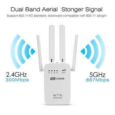 New 300Mbps WiFi Repeater Wireless Router Range Extender Signal Booster