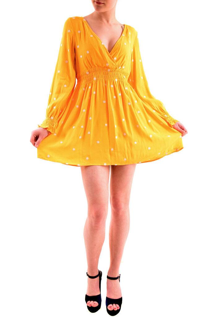 For Love & Lemons Frauen Chiquita Daisy Langarm-Kleid Gelb  BCF75