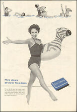 1954 Vintage ad for Meds Tampons`Sexy Model retro Fashion Float (040817)