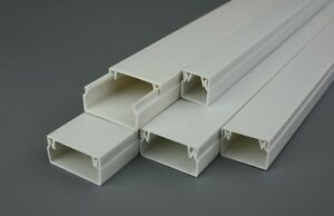 Self Adhesive Electrical Trunking Raceway PVC Cable Conduit Wire Tidy Cover IT | eBay