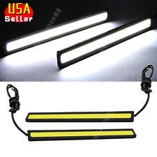 2x Super Bright White Car COB LED Lights -DRL Fog Driving Lamp Waterproof DC 12V