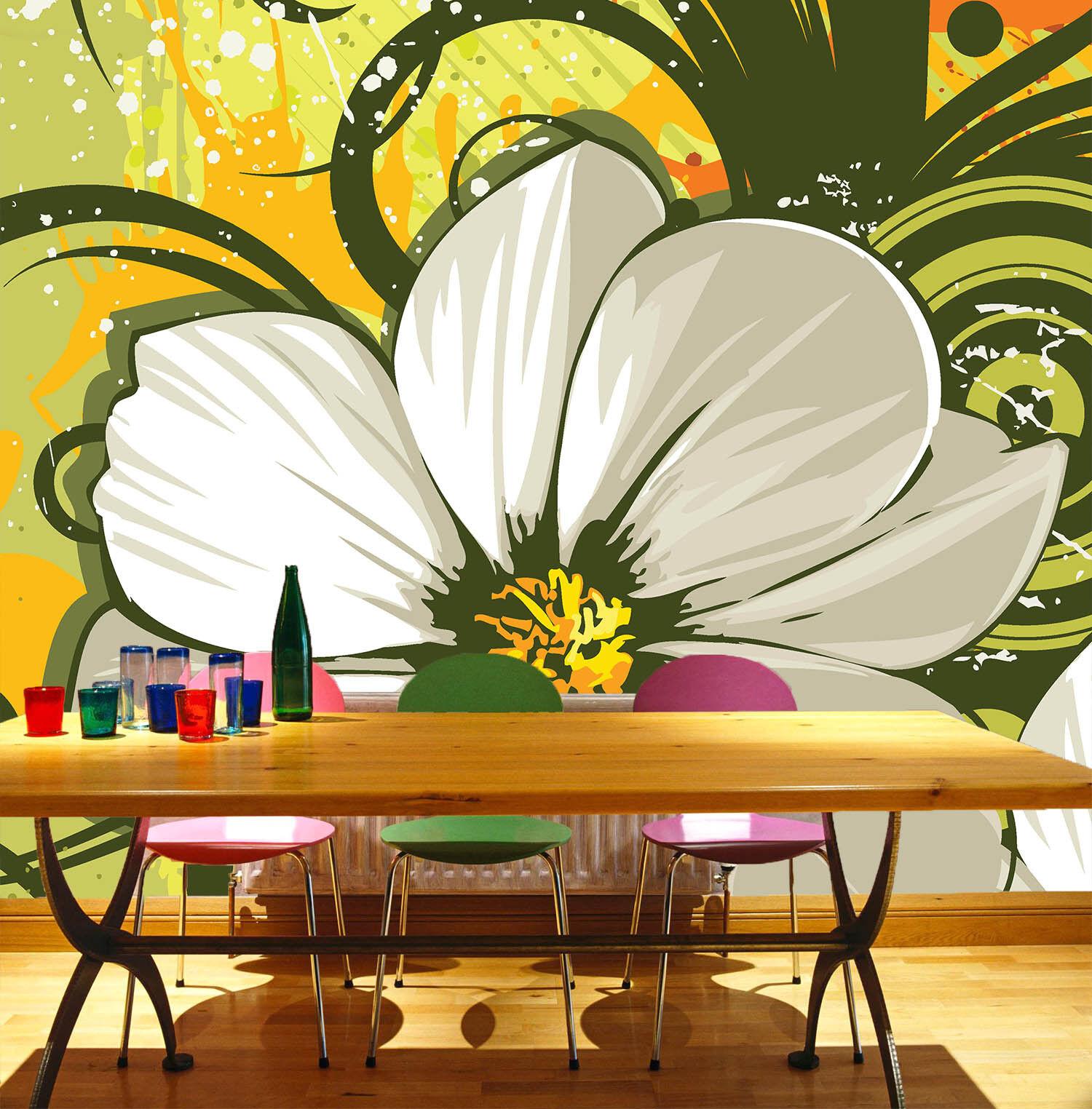 3D Weiße Blütenblätter 743 Tapete Wandgemälde Tapete Tapeten Bild Familie DE  | Mama kaufte ein bequemes, Baby ist glücklich  | Qualität Produkt  | Hochwertige Materialien