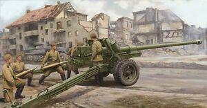 Trumpeter-1-35-Russian-100mm-Anti-Tank-Gun-M1944-BS-3-02331-New-Sealed