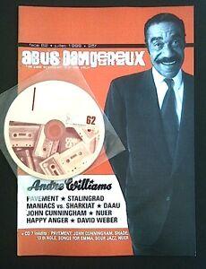 ABUS DANGEREUX n°62 - fanzine rock - Andre Williams, Pavement, Happy Anger CD - France - ABUS DANGEREUX n62 fanzine rock avec CD parfait état envoi protégé Je vends d'autres numéros. Voir ma boutique. - France