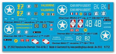 1/72 Beschriftungen für 5 Sherman der FFF No 2 2052