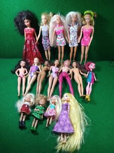 Huge Lot Mattel Barbie, Princess Disney Dolls