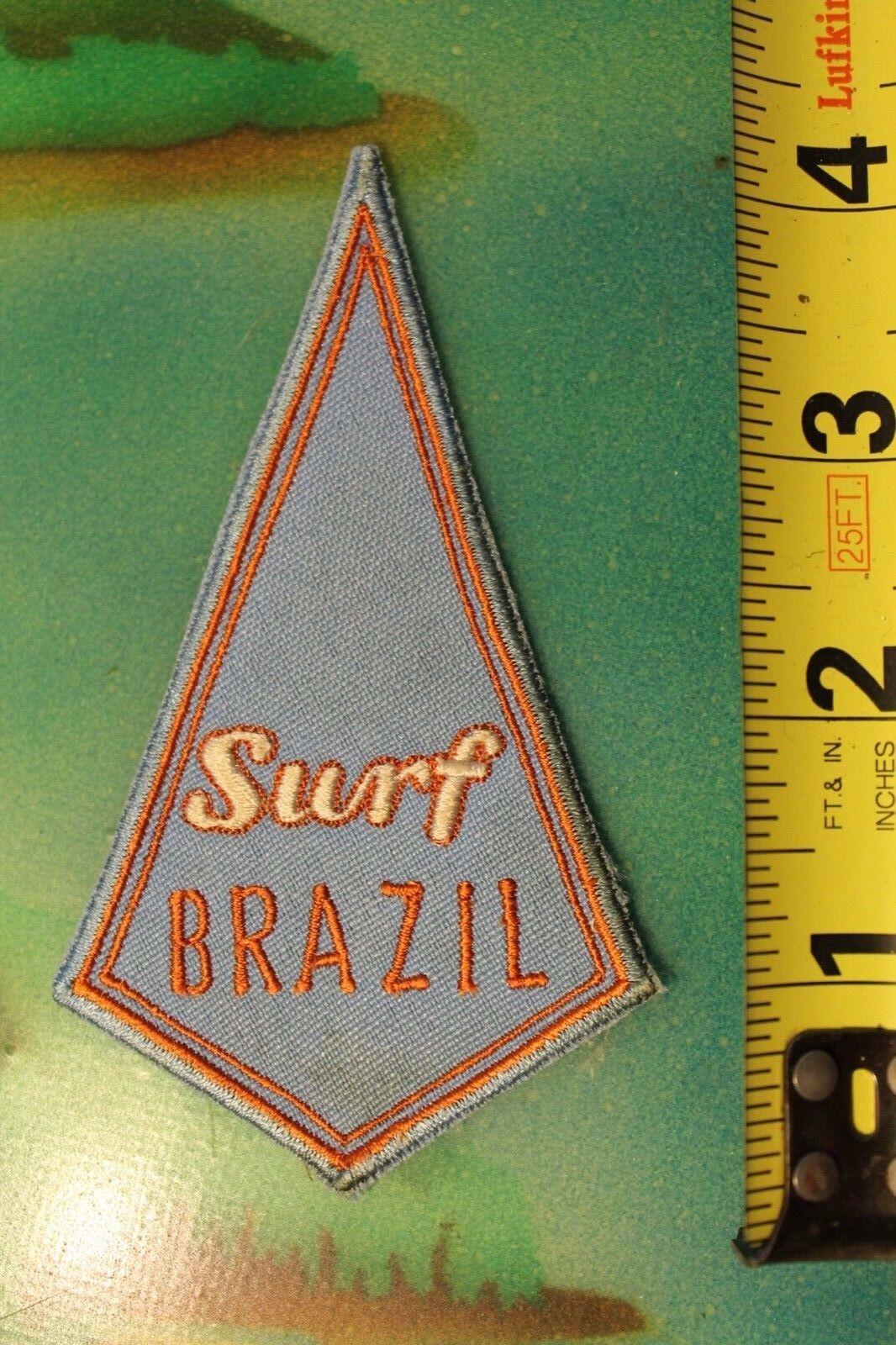 SURF BRAZIL South America Surf Surfboards Original Vintage 60's Surfing PATCH