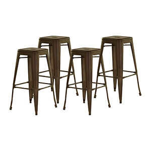 Excellent Details About Tolix Bar Stools Counter High Replica Vintage For Kitchen Bar Cafe Set Of 4 Creativecarmelina Interior Chair Design Creativecarmelinacom
