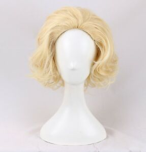Light-Blonde-Wig-Short-Marilyn-Monroe-Harlow-Wig-a-wig-cap