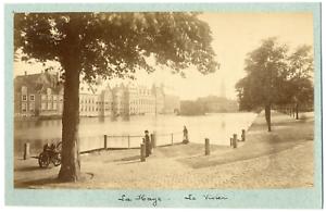 Nederland-Pays-Bas-La-Haye-La-Vivier-Vintage-albumen-print-Tirage-albumine