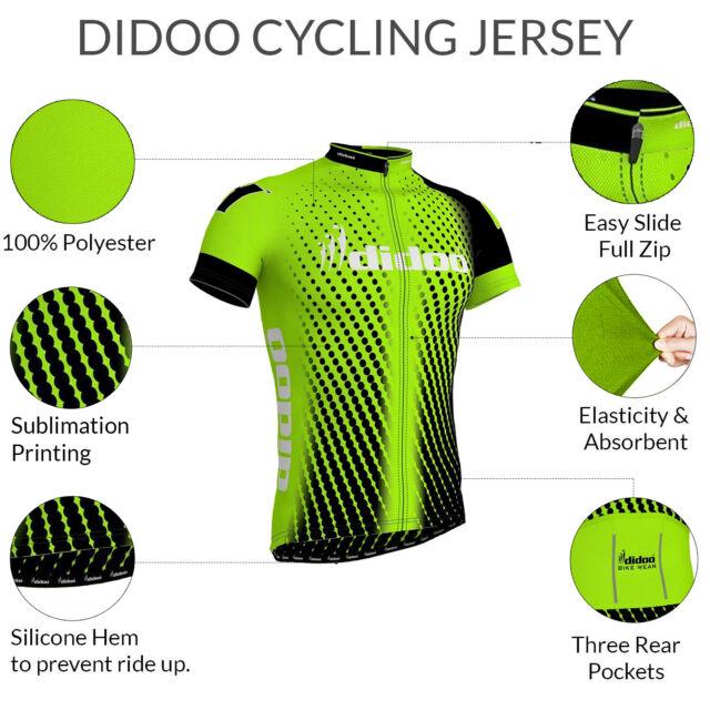 Didoo Men's Cycling Jersey Team Biking Summer Half Sleeve TShirt