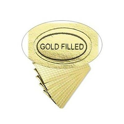 "500 Peel Off Adhesive LABELS Tags ~ Oval 1//2/"" x 5//16/""  Marked /""Gold Filled/"""