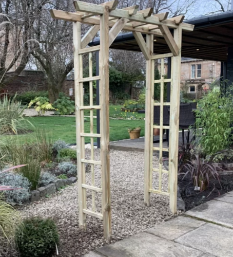 Large Wooden Garden Rose Arch Outdoor Patio Trellis Gate Climbing Plants Pergola