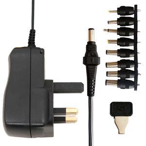 3v 12v Ac Dc 600ma Universal Uk Mains Power Supply