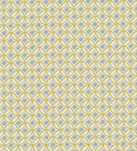 Clarke /& Clarke Ortis Ochre Cotton PVC WIPE CLEAN Tablecloth Oilcloth